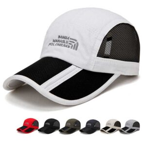 Foldable quick-drying sports mesh baseball cap