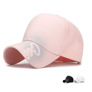 Fashion ladies baseball cap with spray logo