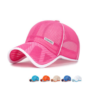 Children's full hollowed-out mesh summer baseball cap