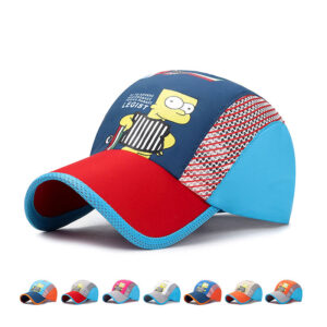 Cartoon character quick dry breathable children's golf cap