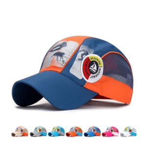 Ski sports cap Children's grid baseball cap
