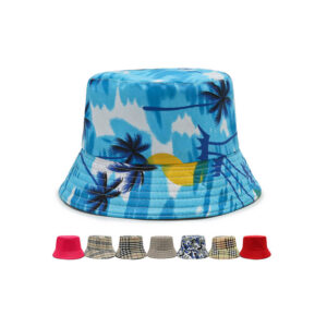 Summer seaside vacation polyester bucket  hat