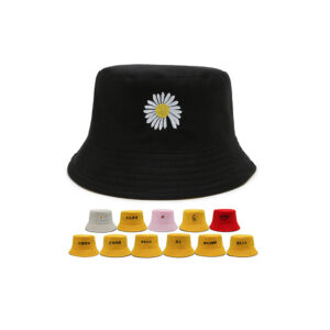Cute logo multicolor bucket hat