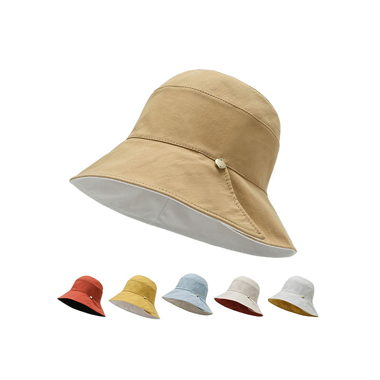Solid color double-sided affordable bucket hat