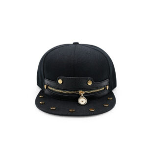PE/PU leather type leather logo snapback cap