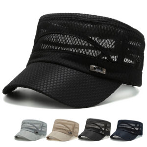 Summer mesh flat top baseball cap
