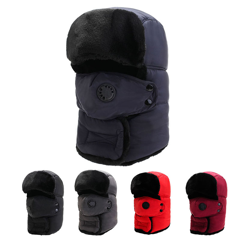 Winter head protection warm and thick hat