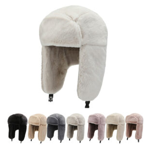 Women's ear covering warm wool winter outdoor hat
