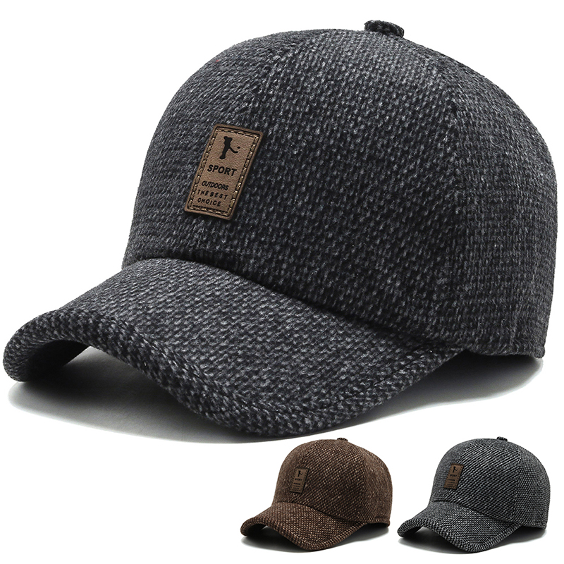 Woven winter cap high-end cold-proof baseball cap